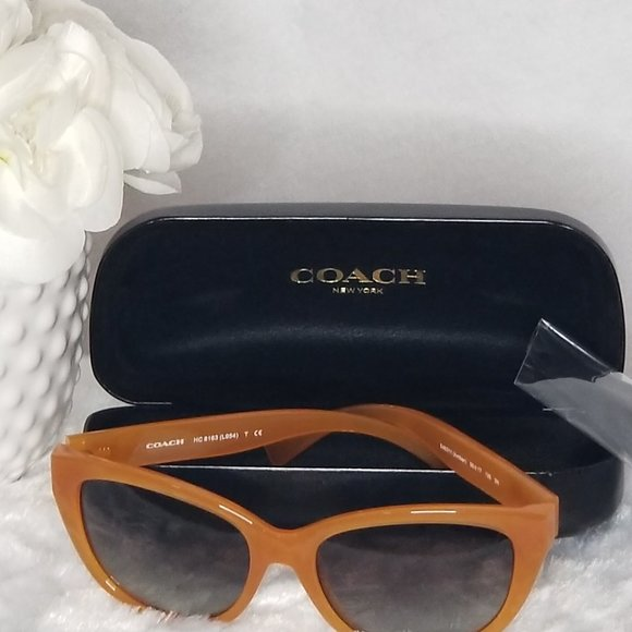 Coach Amber Cat Eye Grey Lens Sunglasses